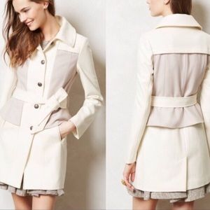 Anthro Elevenses Colette Wool Blend Trench Coat 10